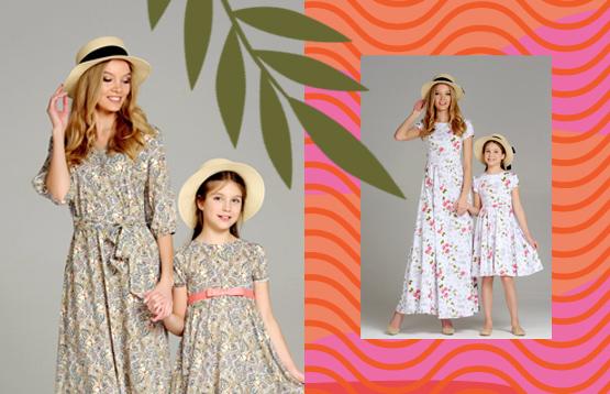 Mark'a. Парные платья для мамы и дочки