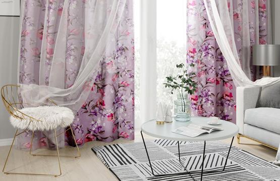 Сирень и Стильный дом. Комплекты штор с тюлем