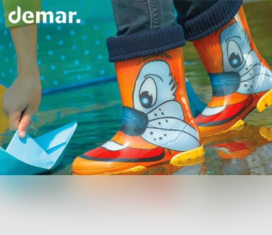 Demar. Детские резиновые сапожки